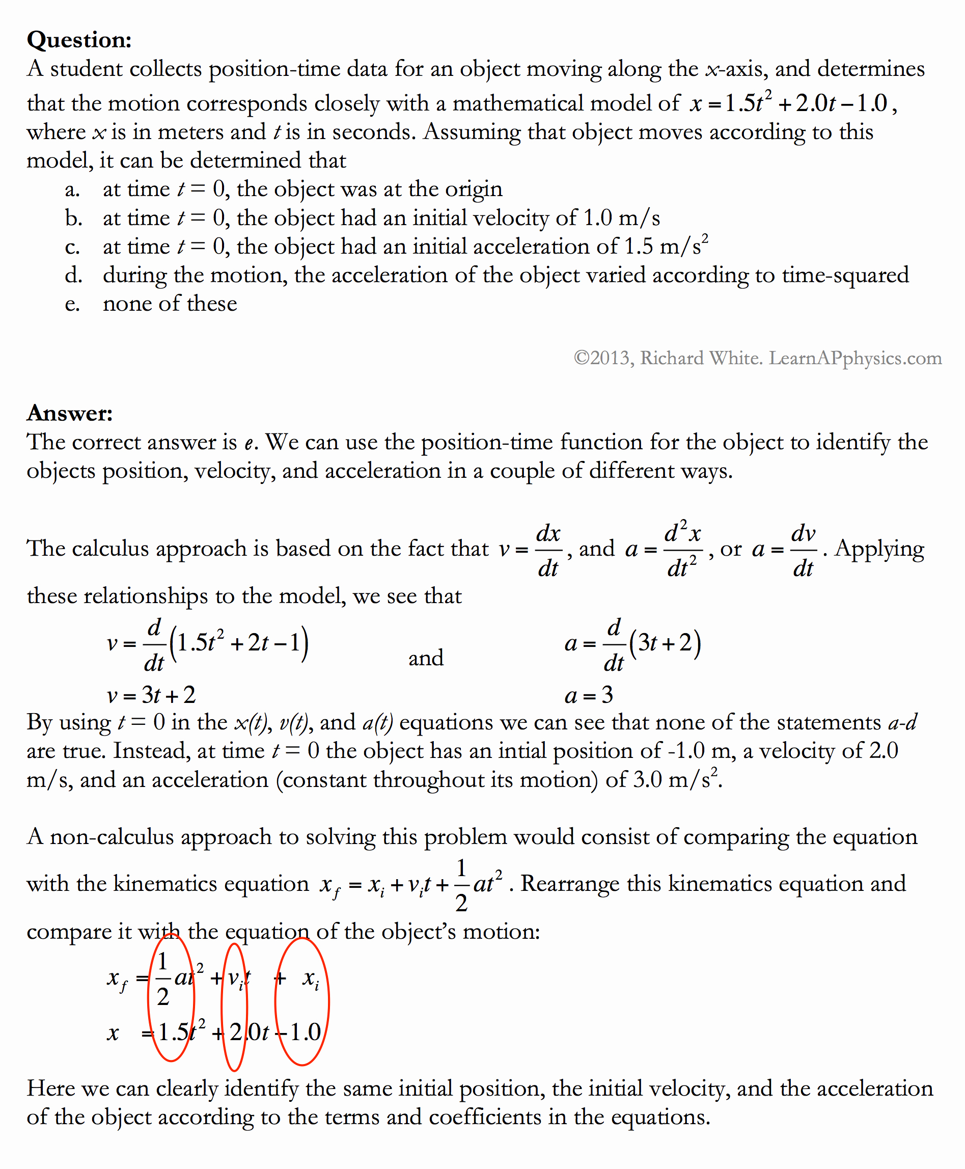 Kinematics Practice Problems Worksheet Best Of Kinematic and Linear Equation Practice Answers Tessshebaylo