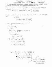 Kinematics Worksheet with Answers Fresh Rotational Kinematics Worksheet Homework 1 L6 Diws Lw