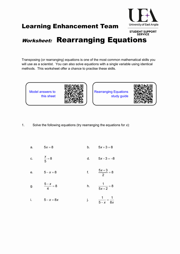 Kinematics Worksheet with Answers Inspirational Rearranging Equations Worksheet Physics Tessshebaylo