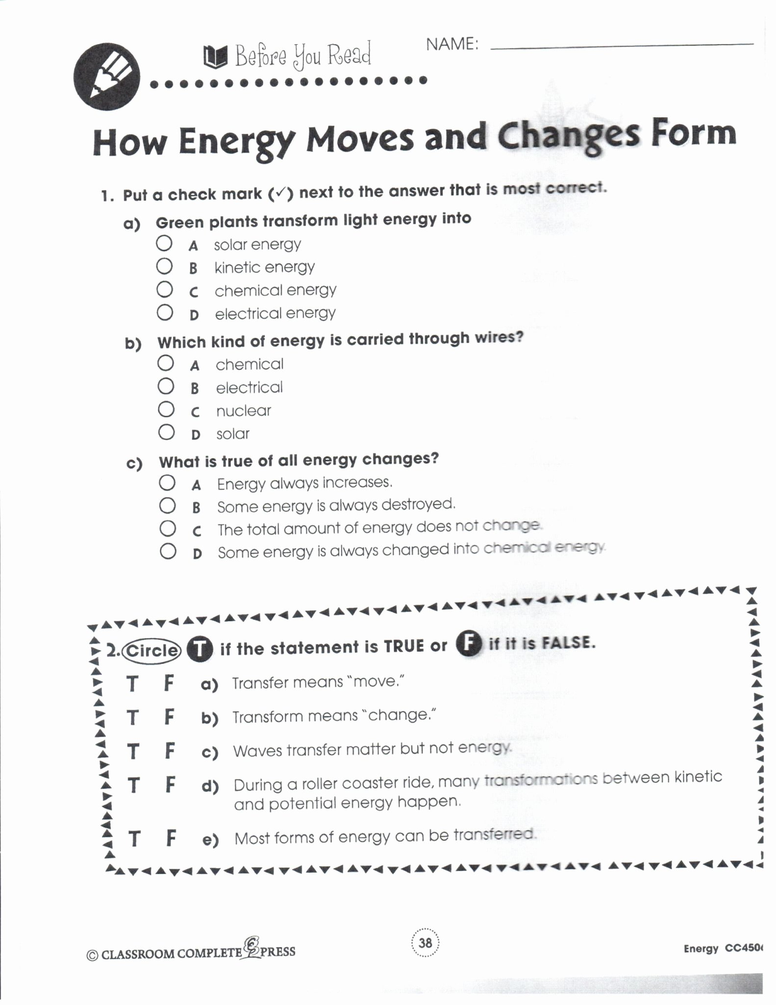 Kinetic and Potential Energy Worksheet Inspirational Introduction to Energy Worksheet Answer Key and forms