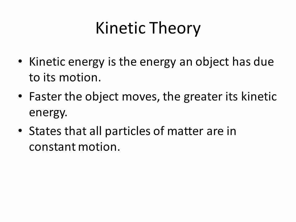 Kinetic Molecular theory Worksheet Fresh Kinetic Molecular theory Worksheet