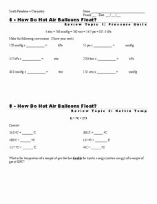 Kinetic Molecular theory Worksheet Lovely Kinetic Molecular theory Lesson Plans & Worksheets