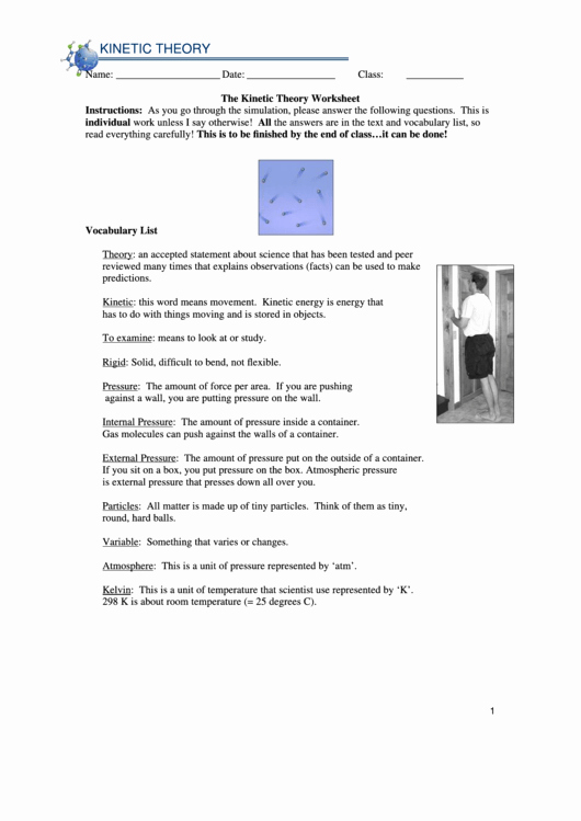 Kinetic Molecular theory Worksheet Lovely top 10 Kinetic theory Worksheet Templates Free to