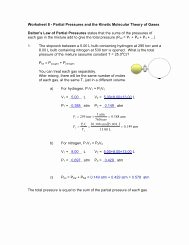 Kinetic Molecular theory Worksheet New Dalton S Law Of Partial Pressures Worksheet