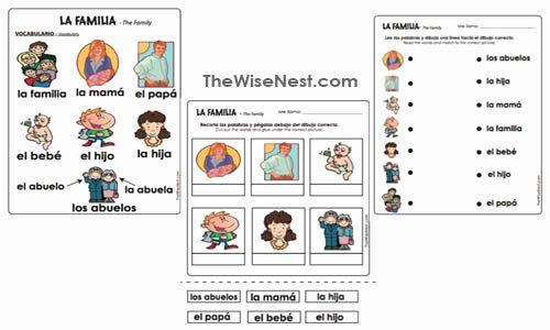 La Familia Worksheet In Spanish Awesome La Familia Spanish the Wise Nest