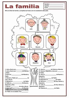 La Familia Worksheet In Spanish Beautiful A Printable Activity to Practice Spanish Family Vocabulary