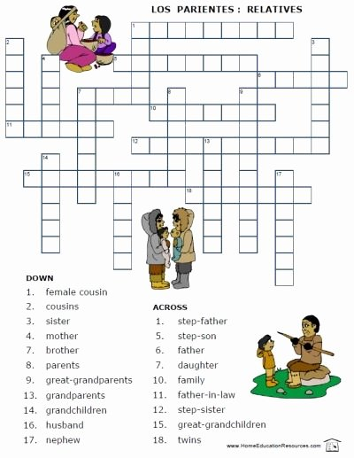 La Familia Worksheet In Spanish Best Of Free Printable Spanish Worksheet Family Vocabulary La