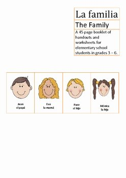 La Familia Worksheet In Spanish Best Of La Familia Spanish Elementary School the Family by Loving