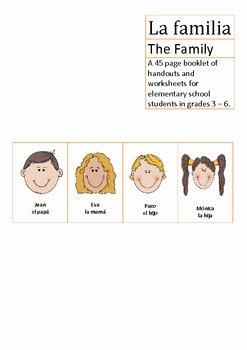 La Familia Worksheet In Spanish Best Of La Familia Spanish Elementary School the Family by Loving