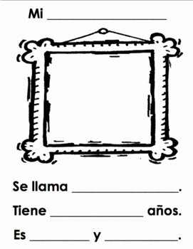 La Familia Worksheet In Spanish Fresh Spanish Family Portrait and Description Worksheet Mi