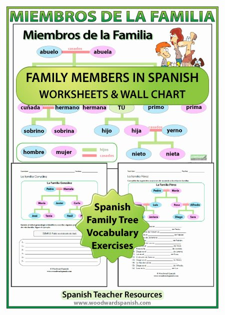 La Familia Worksheet In Spanish Inspirational Spanish Family Tree Worksheets