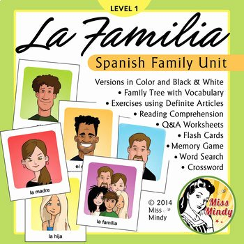 La Familia Worksheet In Spanish Luxury La Familia Spanish Family Unit Family Tree Worksheets