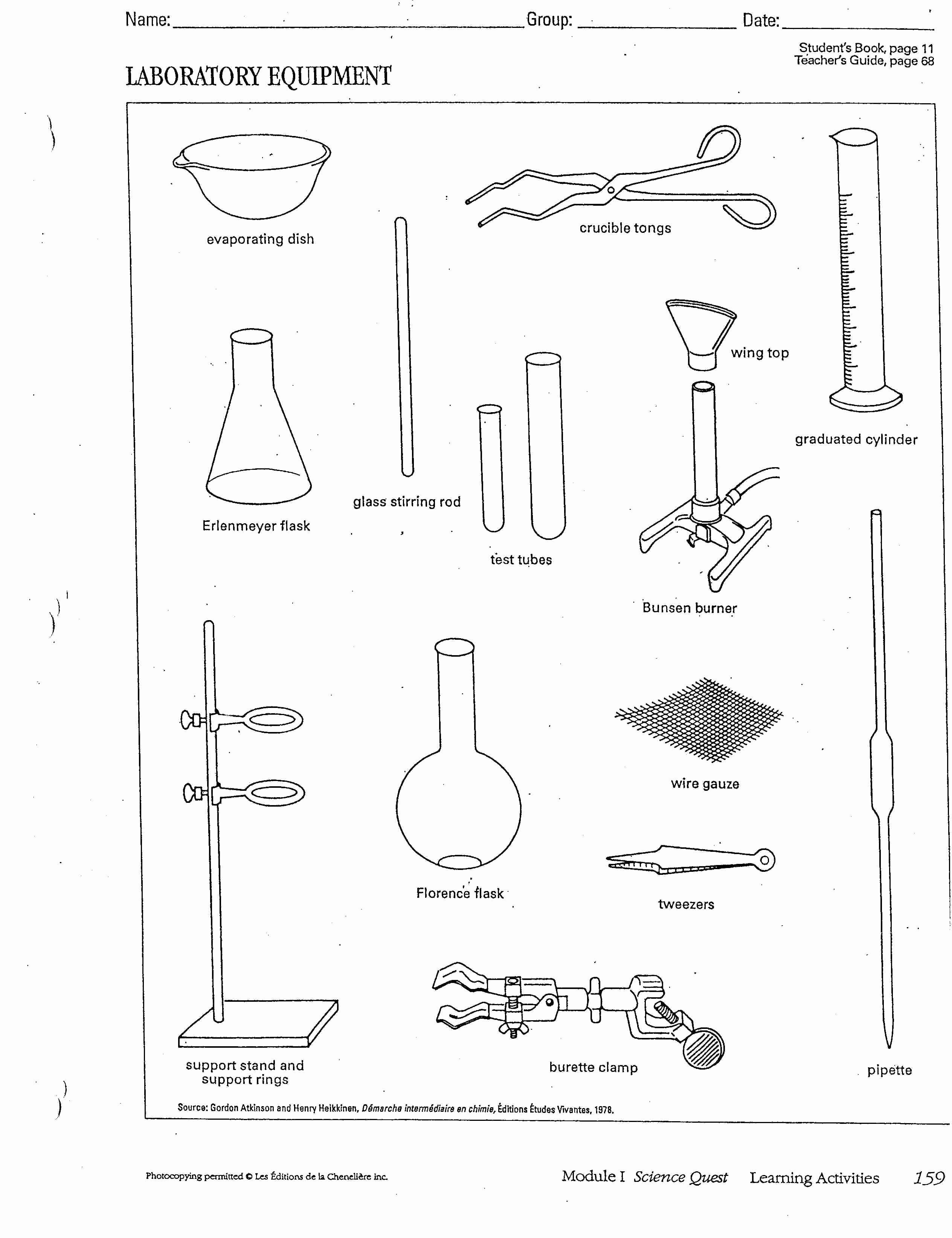 Lab Equipment Worksheet Answer Best Of Chemistry Lab Equipment Bing