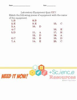 Lab Equipment Worksheet Answer Key Best Of General Science Lab Equipment Worksheet and Quiz