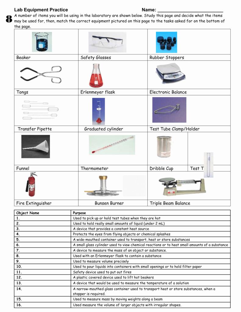 Lab Equipment Worksheet Answer Key Unique Lab Design Worksheet
