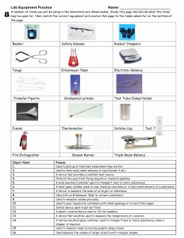 Lab Equipment Worksheet Answer Luxury Lab Equipment Worksheet Pc Mac