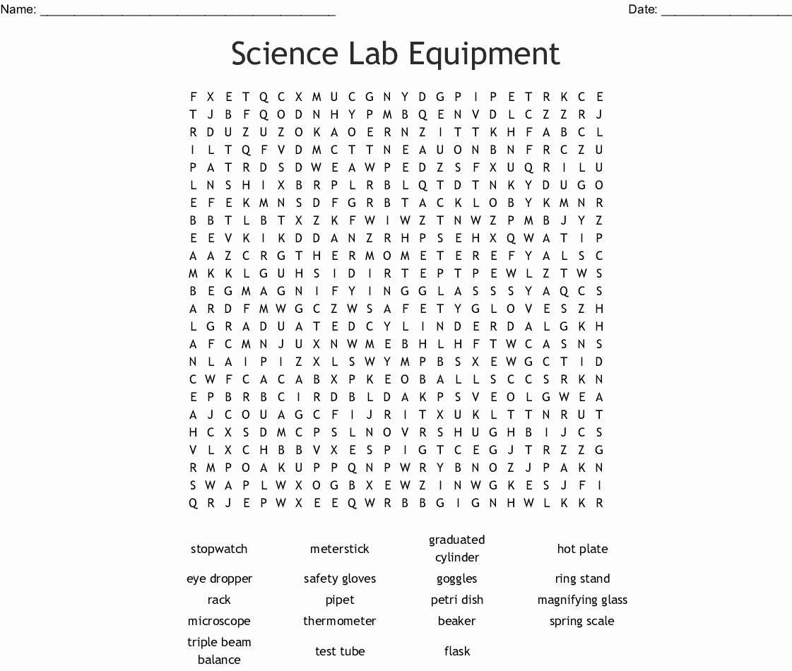 Lab Equipment Worksheet Answers Lovely Lab Equipment Worksheet Answers