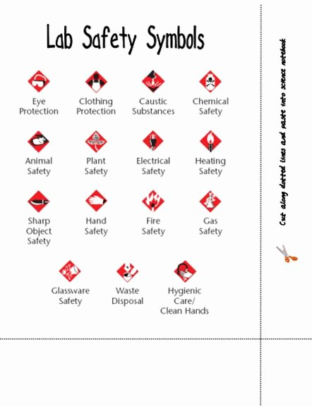 Lab Safety Symbols Worksheet Awesome Here S A Page Identifying Lab Safety Symbols
