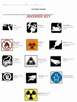 Lab Safety Symbols Worksheet Beautiful Lab Safety Symbols Matching Activity by Middle School