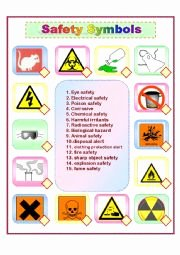 Lab Safety Symbols Worksheet Elegant Safety Symbols Esl Worksheet by Leien29