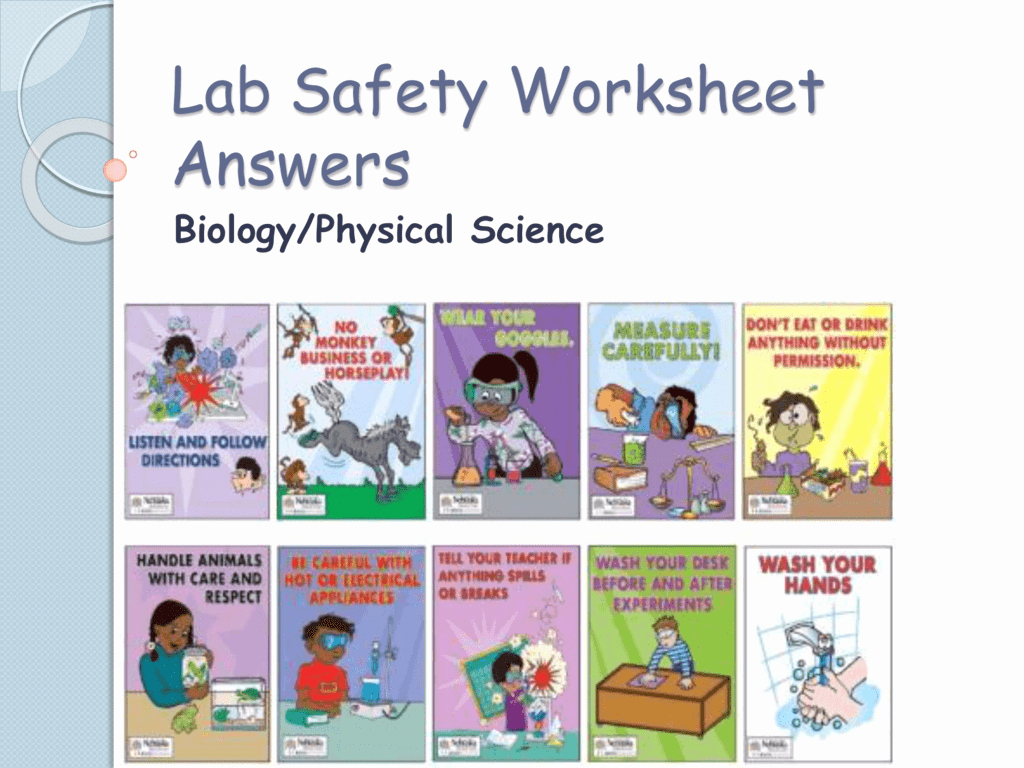Lab Safety Worksheet Answer Key Beautiful Lab Safety Worksheet Answers