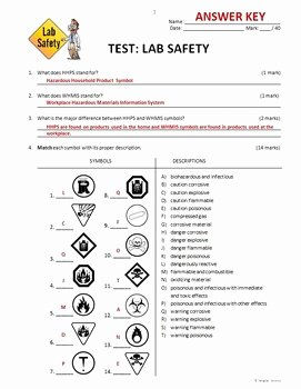 Lab Safety Worksheet Answer Key Elegant Lab Safety Test Editable by Tangstar Science