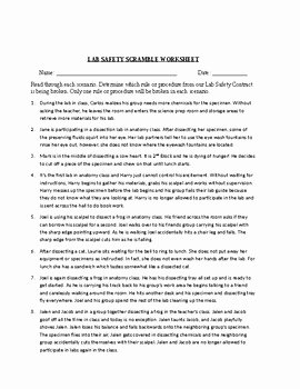Lab Safety Worksheet Answers Beautiful Science Lab Safety Contract Lab Safety Worksheet and