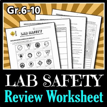 Lab Safety Worksheet Answers Best Of Lab Safety Review Worksheets Editable by Tangstar