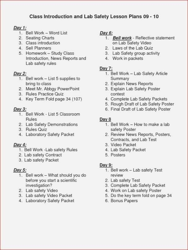 Lab Safety Worksheet Answers Best Of Lab Safety Worksheet Answer Key