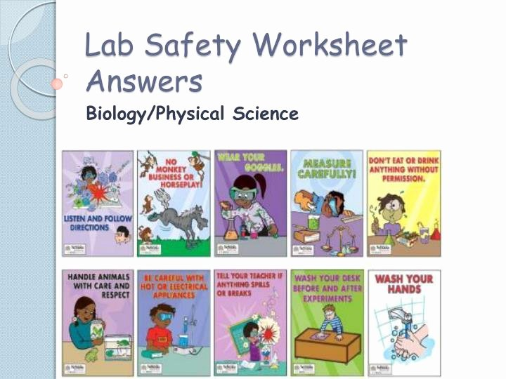 Lab Safety Worksheet Answers Best Of Ppt Lab Safety Worksheet Answers Powerpoint Presentation