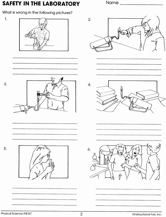 Lab Safety Worksheet Answers Elegant Lab Safety Worksheet Lee Keller School