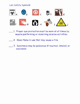 Lab Safety Worksheet Answers New Lab Safety Symbols Handout Worksheet Quiz & Smartboard