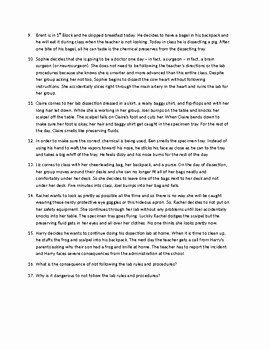 Lab Safety Worksheet Answers New Science Lab Safety Contract Lab Safety Worksheet and
