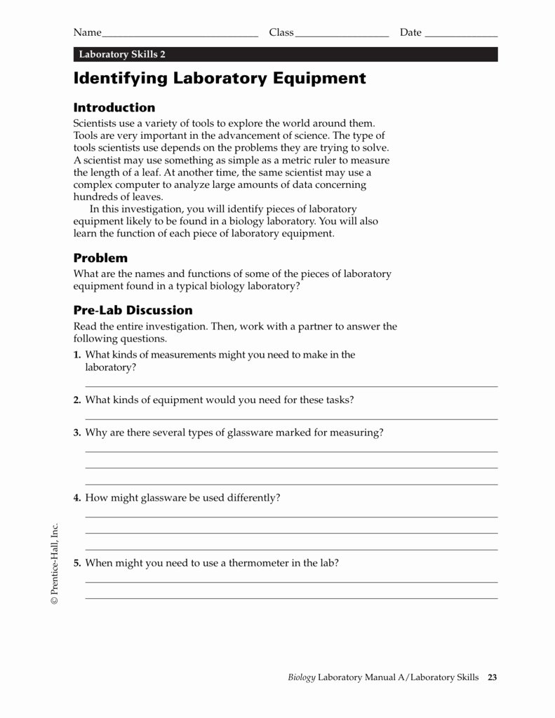 Lab Safety Worksheet Answers Unique 64 Lab Safety Worksheet Answers