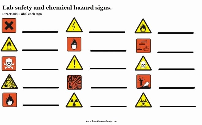 Lab Safety Worksheet Pdf Elegant Lab and Chemical Hazards Signs Free Download