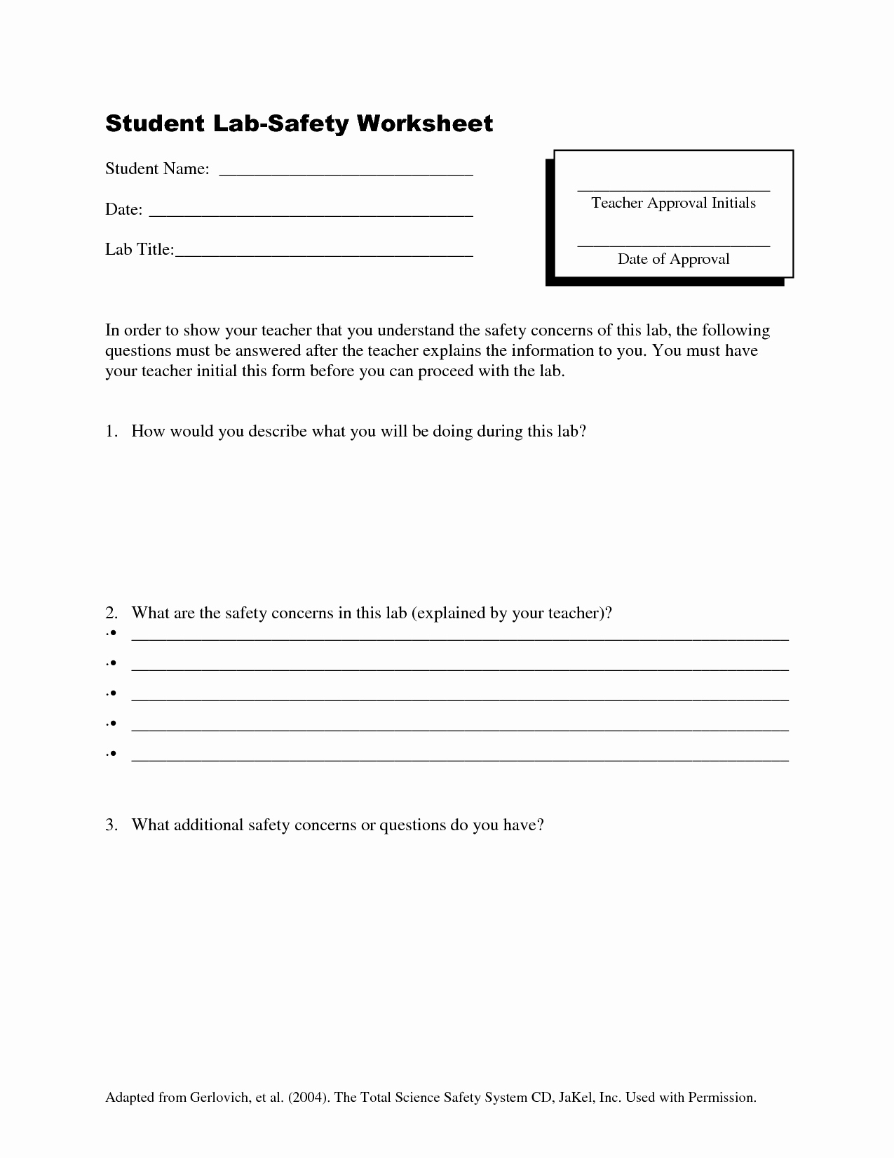 Lab Safety Worksheet Pdf Inspirational 15 Best Of Science Laboratory Safety Rules