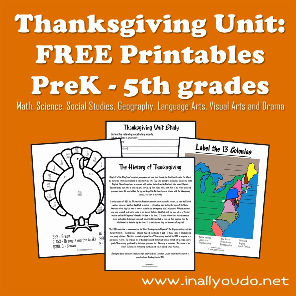 Language Of Science Worksheet Beautiful Thanksgiving Unit Free Printables Prek 5th In All You Do