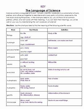 Language Of Science Worksheet Elegant Language Of Science Worksheet with Key by Keystone Science