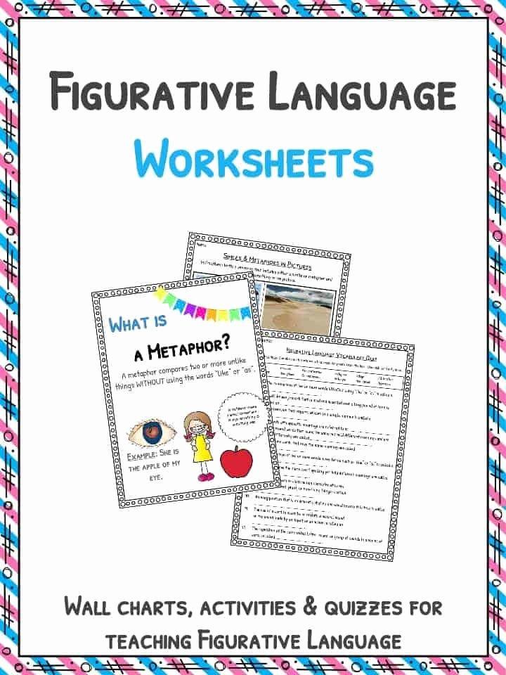 Language Of Science Worksheet Fresh Figurative Language Worksheets