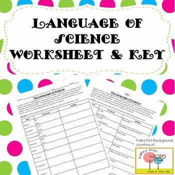 Language Of Science Worksheet Fresh Language Of Science Worksheet with Key by Keystone Science