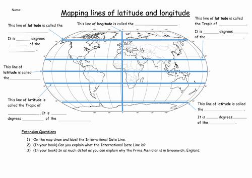 Latitude and Longitude Worksheet Answers Beautiful Latitude and Longitude Worksheet by Katie Maria Teaching