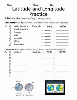 Latitude and Longitude Worksheet Answers Elegant Latitude and Longitude Worksheet by American Civics and Us