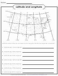 Latitude and Longitude Worksheet Answers Elegant Latitude and Longitude Worksheet with Answers Download