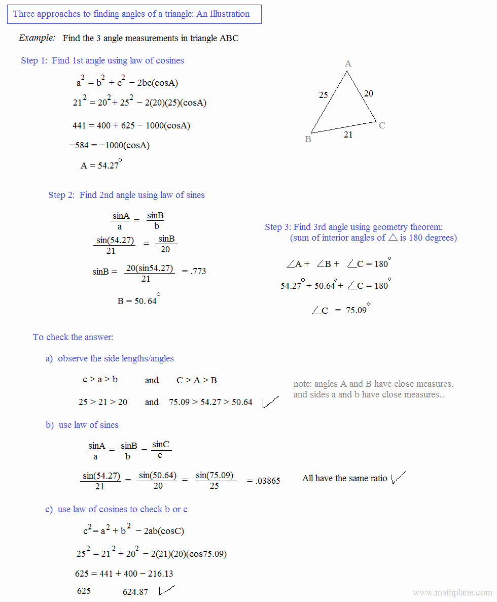 Law Of Cosines Worksheet Best Of Math Plane Law Of Sines and Cosines & area Of Triangles