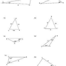 Law Of Cosines Worksheet Elegant Law Of Cosine to Figure area Of A Triangle