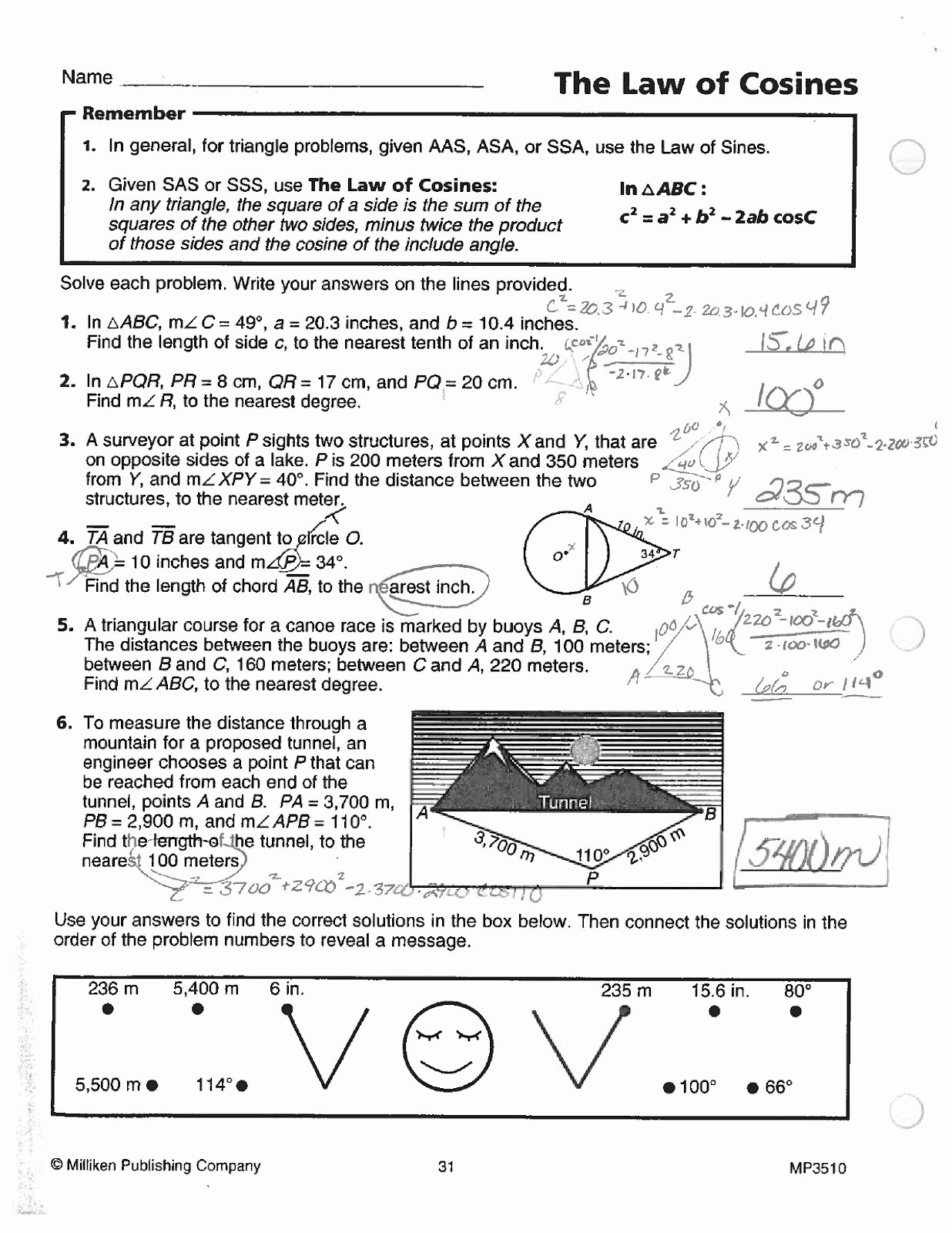 Law Of Cosines Worksheet Elegant Law Sines Cosines Worksheet
