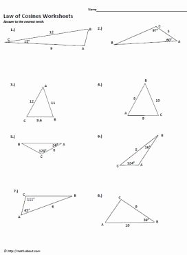 Law Of Cosines Worksheet Fresh Law Of Cosine to Figure area Of A Triangle