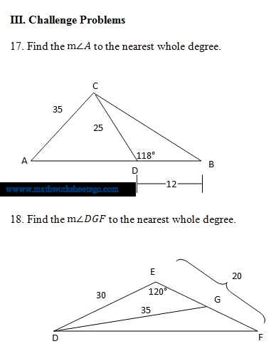 Law Of Cosines Worksheet Fresh Law Sines Cosines Worksheet Pdf Geo Kids