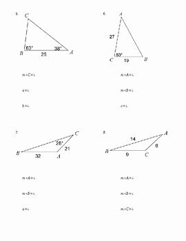 Law Of Cosines Worksheet Lovely Law Of Sines & Cosines Worksheet by Sarah Dragoon