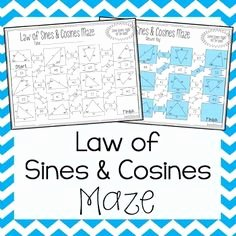 Law Of Cosines Worksheet Lovely Law Of Sines and Law Of Cosines Maze My Tpt Items